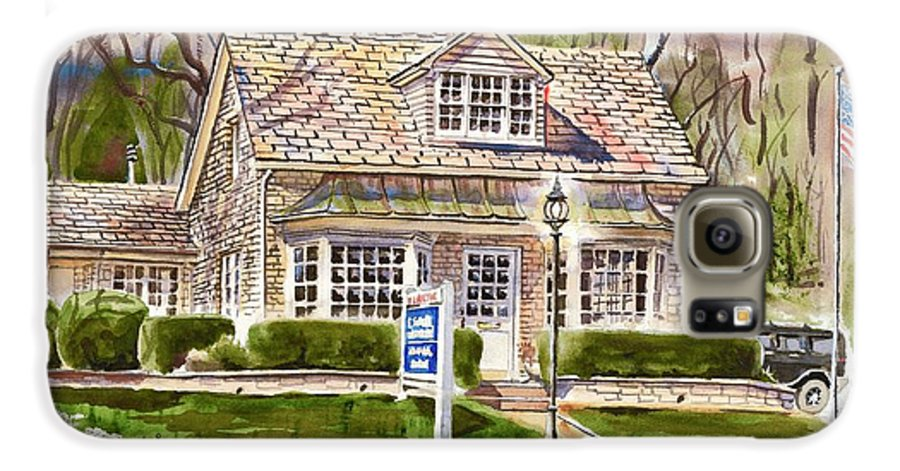The Greystone Inn In Brigadoon Galaxy S6 Case featuring the painting The Greystone Inn In Brigadoon by Kip DeVore