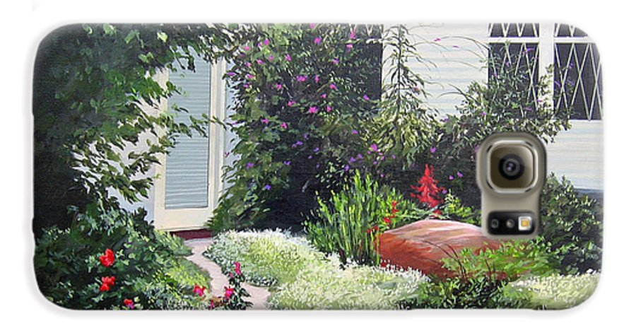 Garden Path Galaxy S6 Case featuring the painting The Hidden Garden by Hunter Jay