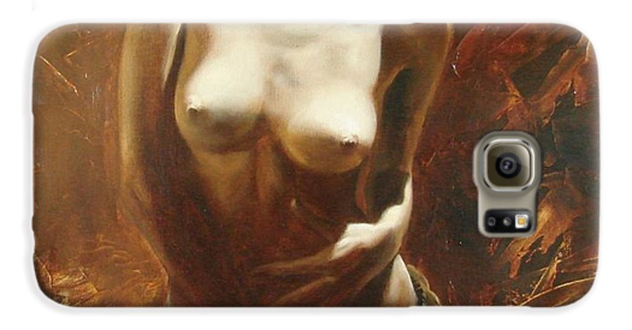 Oil Galaxy S6 Case featuring the painting The Incinerating Passion by Sergey Ignatenko