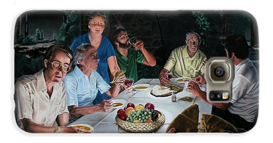 Last Supper Galaxy S6 Case featuring the painting The Last Supper by Dave Martsolf