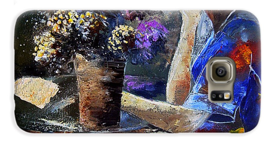 Girl Nude Galaxy S6 Case featuring the painting The Letter by Pol Ledent