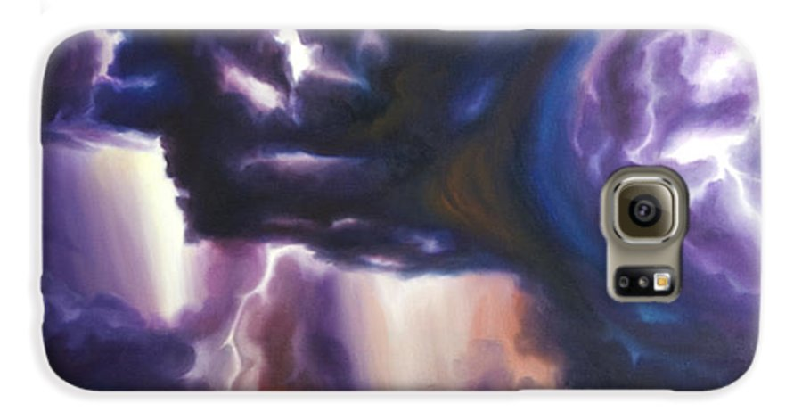 Tempest Galaxy S6 Case featuring the painting The Lightning by James Christopher Hill