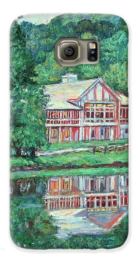 Lodge Paintings Galaxy S6 Case featuring the painting The Lodge At Peaks Of Otter by Kendall Kessler