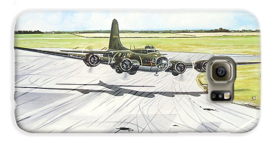 Military Galaxy S6 Case featuring the painting The Memphis Belle by Marc Stewart