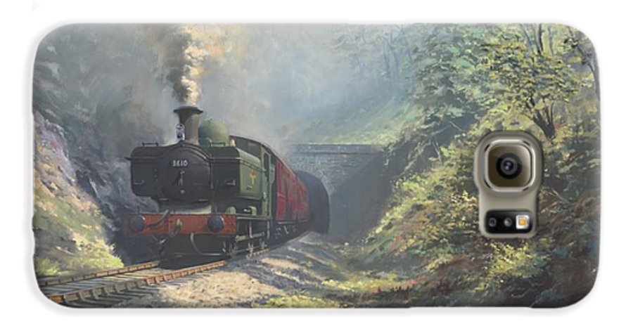 Steam Galaxy S6 Case featuring the painting The Merthyr Tunnel by Richard Picton