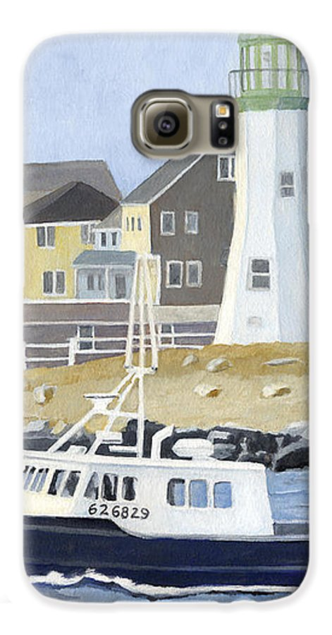 Fishingboat Galaxy S6 Case featuring the painting The Michael Brandon by Dominic White