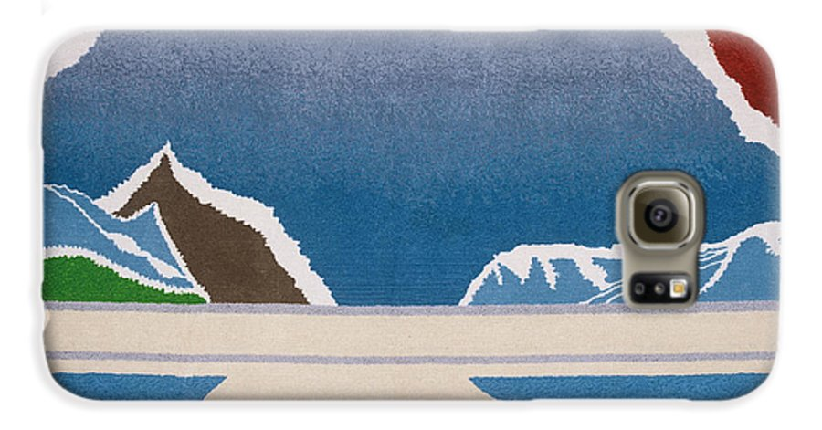 Landscape Galaxy S6 Case featuring the tapestry - textile The Midnight Sun by Jarle Rosseland