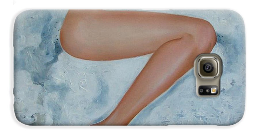 Art Galaxy S6 Case featuring the painting The Milk Bath by Sergey Ignatenko