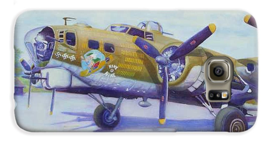 B-17 Galaxy S6 Case featuring the painting The Nine O Nine by Scott Robertson