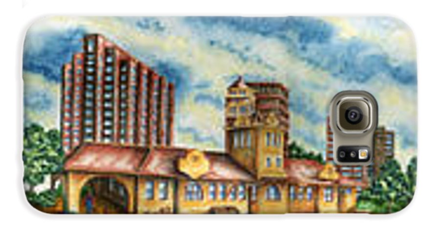 Cityscape Galaxy S6 Case featuring the painting The Old Train Station  by Ragon Steele