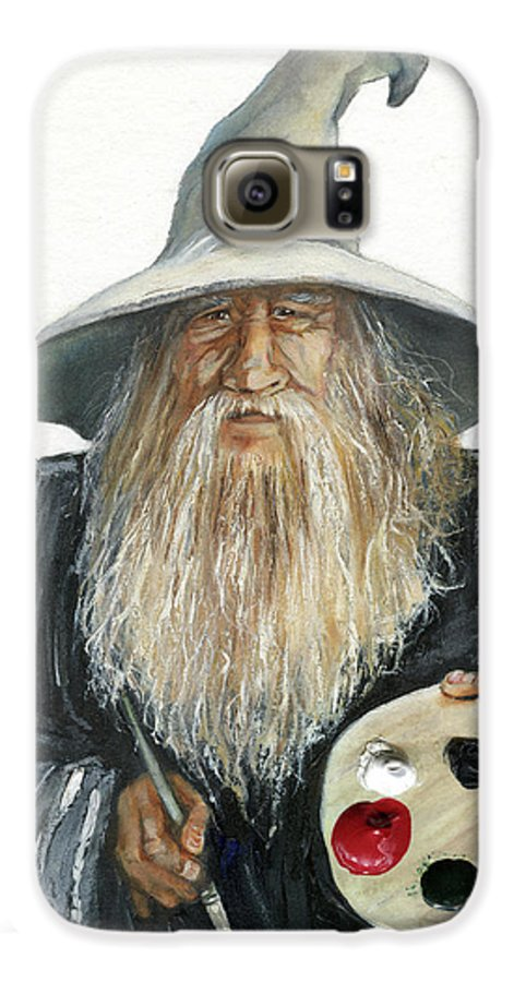 Wizard Galaxy S6 Case featuring the painting The Painting Wizard by J W Baker