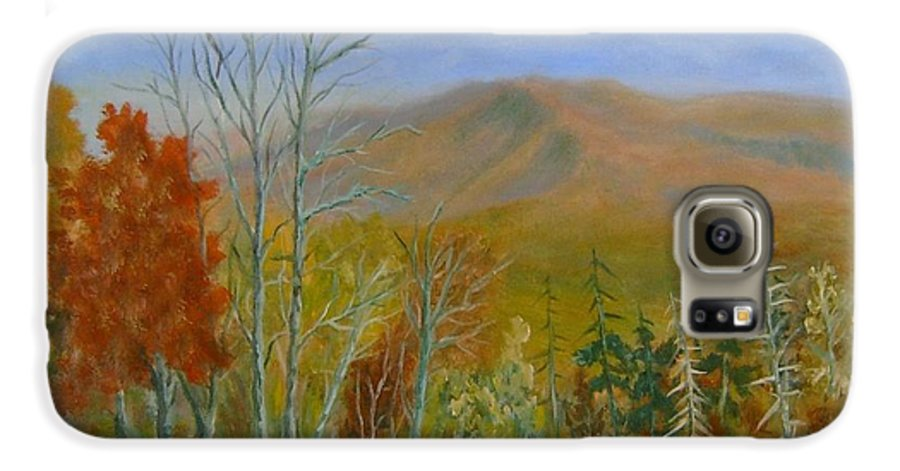 Mountains; Trees; Fall Colors Galaxy S6 Case featuring the painting The Parkway View by Ben Kiger