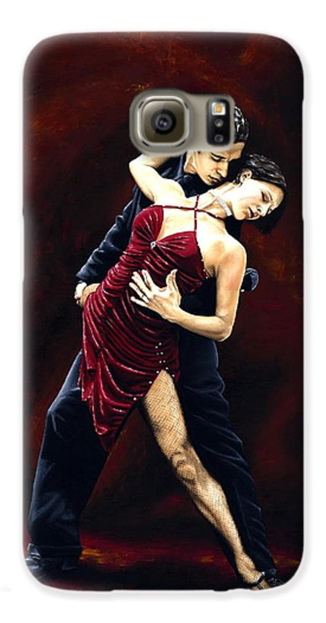 Tango Galaxy S6 Case featuring the painting The Passion Of Tango by Richard Young