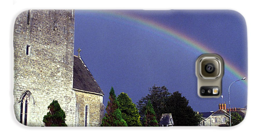 Rain Galaxy S6 Case featuring the photograph The Perfect Rainbow by Carl Purcell
