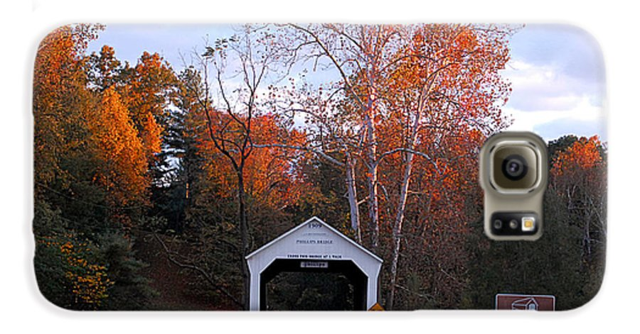Landscape Galaxy S6 Case featuring the photograph The Phillips Covered Bridge by John McAllister