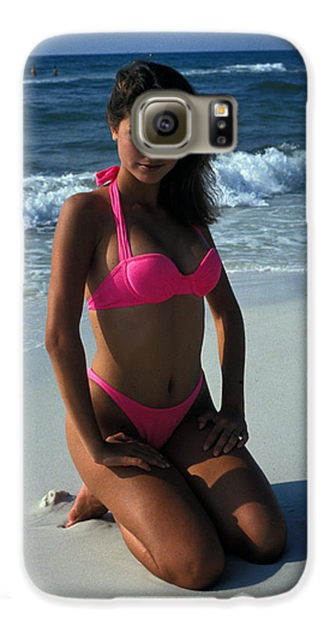 Attractive Galaxy S6 Case featuring the photograph The Pink Bikini by Carl Purcell