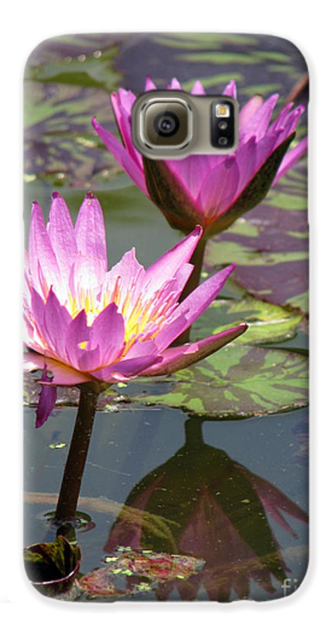Lillypad Galaxy S6 Case featuring the photograph The Pond by Amanda Barcon