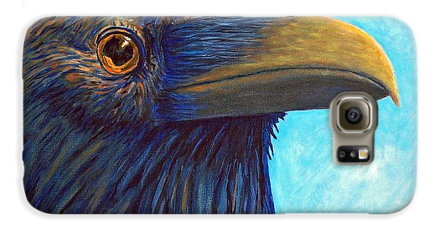 Raven Galaxy S6 Case featuring the painting The Prophet by Brian Commerford