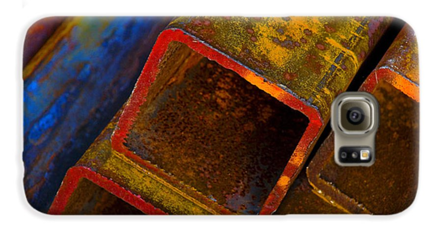 Abstract Galaxy S6 Case featuring the photograph The River by Skip Hunt