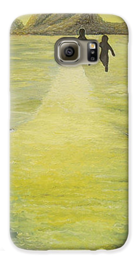 Soul Galaxy S6 Case featuring the painting The Road In The Ocean Of Light by Karina Ishkhanova