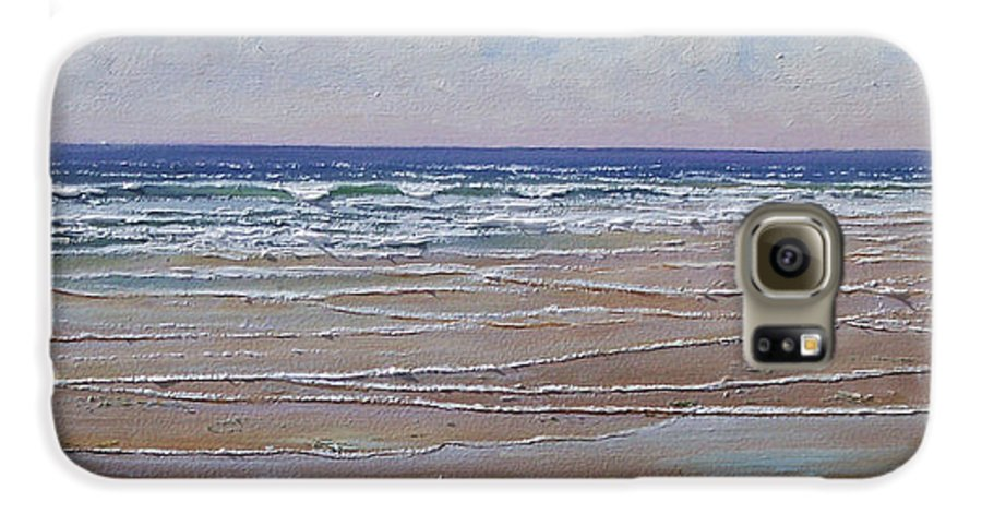Seascape Galaxy S6 Case featuring the painting The Shell Collector by Frank Wilson