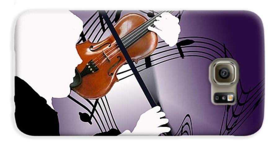 Violin Galaxy S6 Case featuring the digital art The Soloist by Steve Karol