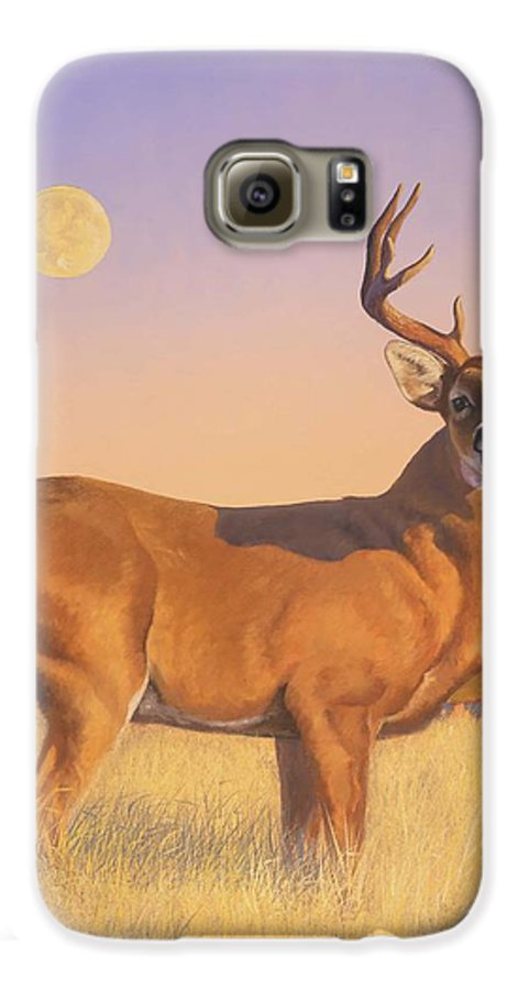 Deer Galaxy S6 Case featuring the painting The Stag by Howard Dubois