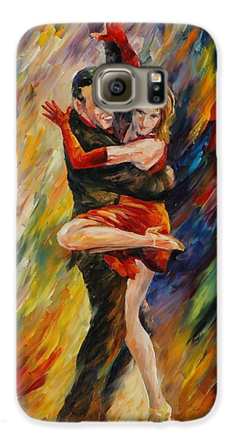 Dance Galaxy S6 Case featuring the painting The Sublime Tango by Leonid Afremov