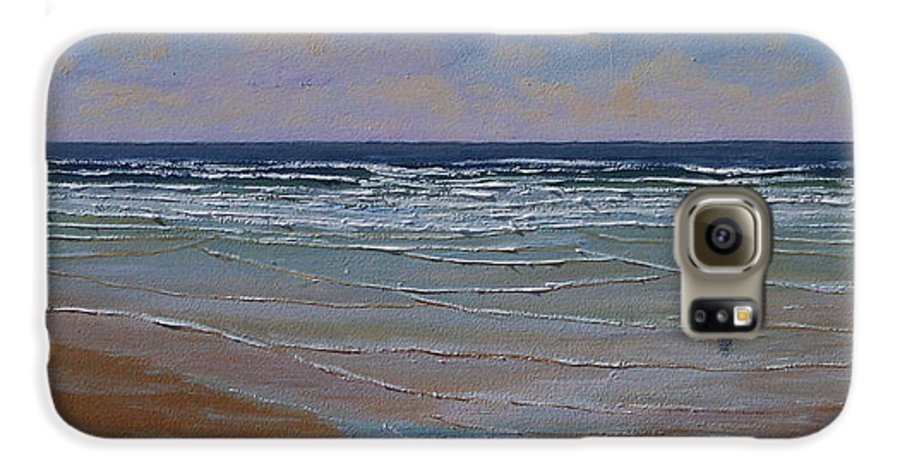 Seascape Galaxy S6 Case featuring the painting The Surf Walker by Frank Wilson