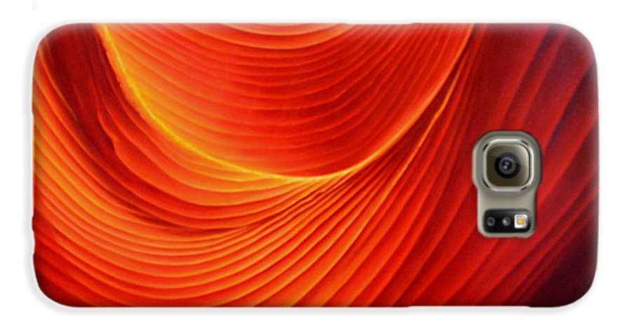 Antelope Canyon Galaxy S6 Case featuring the painting The Swirl by Anni Adkins
