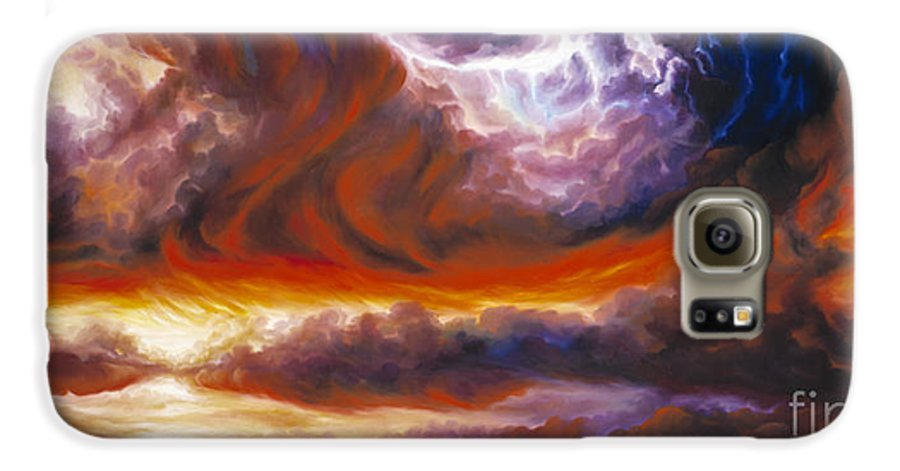Tempest Galaxy S6 Case featuring the painting The Tempest by James Christopher Hill