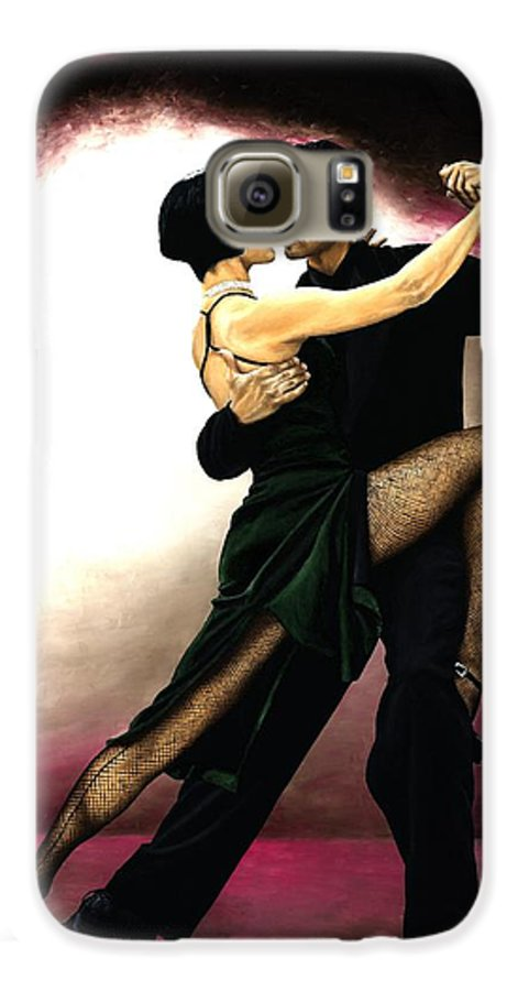 Tango Galaxy S6 Case featuring the painting The Temptation Of Tango by Richard Young