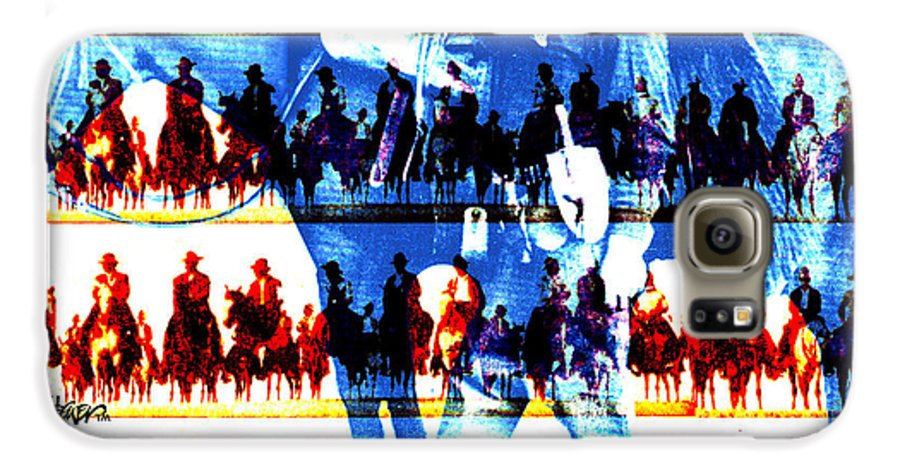 Cowboys Galaxy S6 Case featuring the digital art The Tenderfoot by Seth Weaver