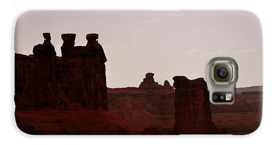 Landscape Galaxy S6 Case featuring the photograph The Three Gossips Arches National Park Utah by Christine Till