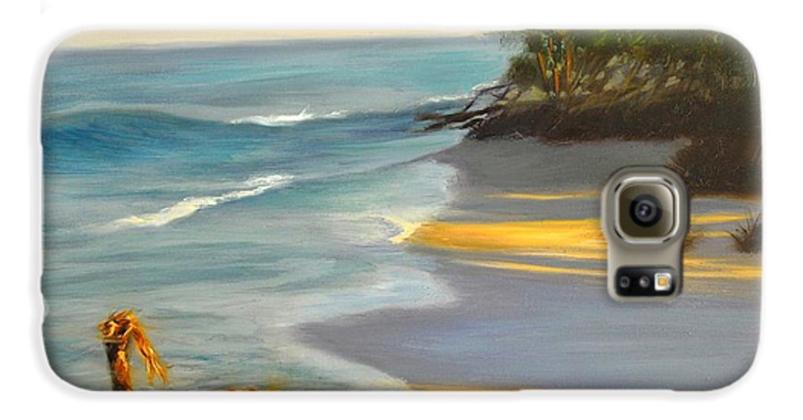 Landscape Galaxy S6 Case featuring the painting The Tide Is Blocking The Way by Greg Neal