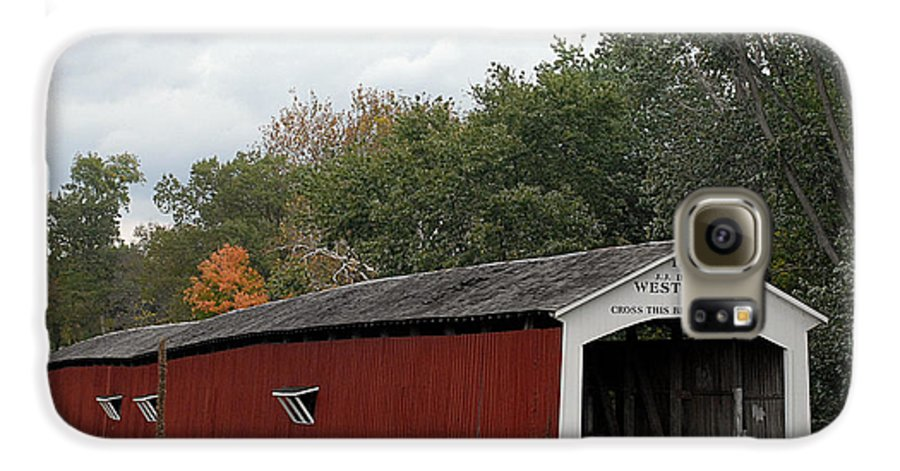 Landscape Galaxy S6 Case featuring the photograph The West Union Covered Bridge by John McAllister