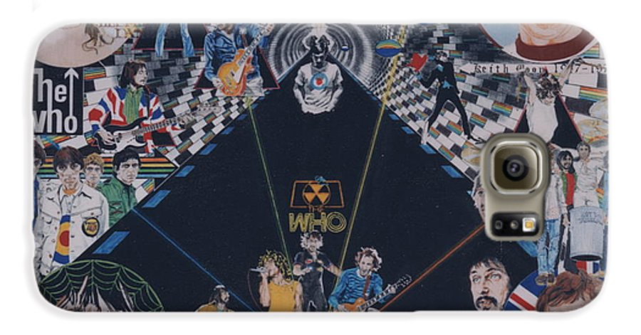 Pete Townshend;roger Daltrey;john Entwistle;keith Moon;quadrophenia;opera;story;four;music;guitars;lasers;mods;rockers;london;brighton;1964 Galaxy S6 Case featuring the drawing The Who - Quadrophenia by Sean Connolly
