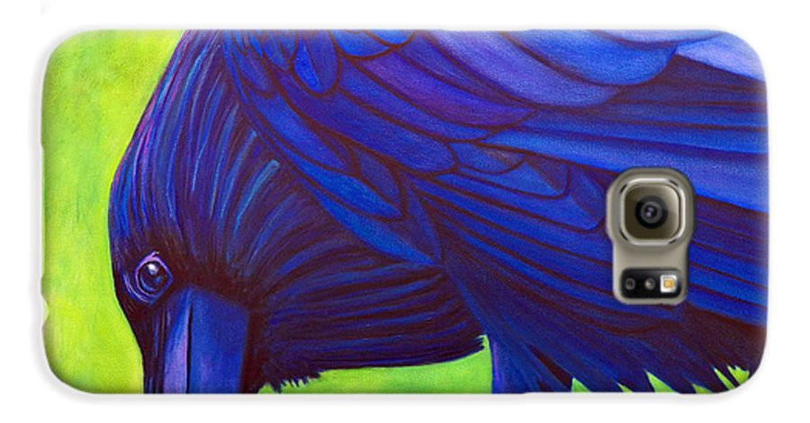 Raven Galaxy S6 Case featuring the painting The Witness by Brian Commerford