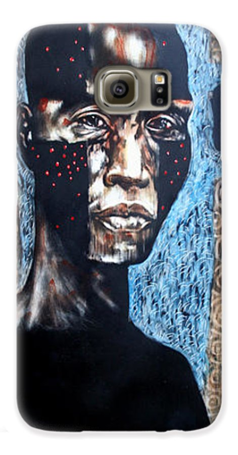 Religion Galaxy S6 Case featuring the mixed media The Zelot by Chester Elmore