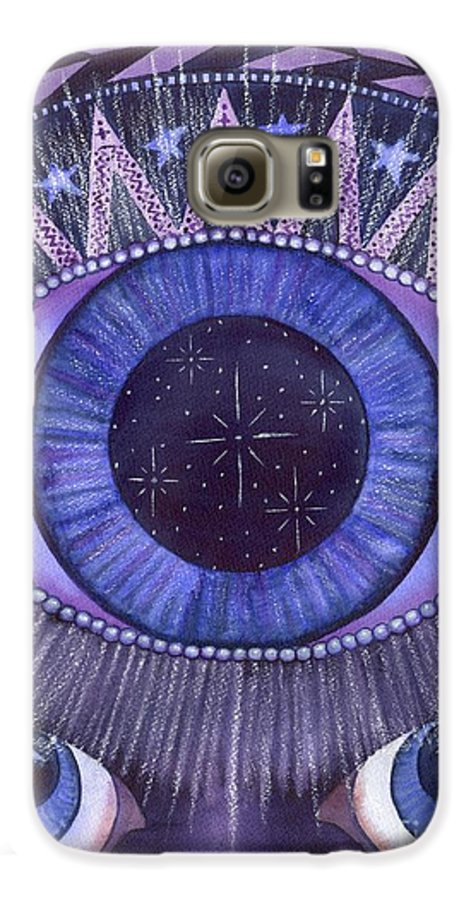 Thrid Eye Galaxy S6 Case featuring the painting Third Eye Chakra by Catherine G McElroy
