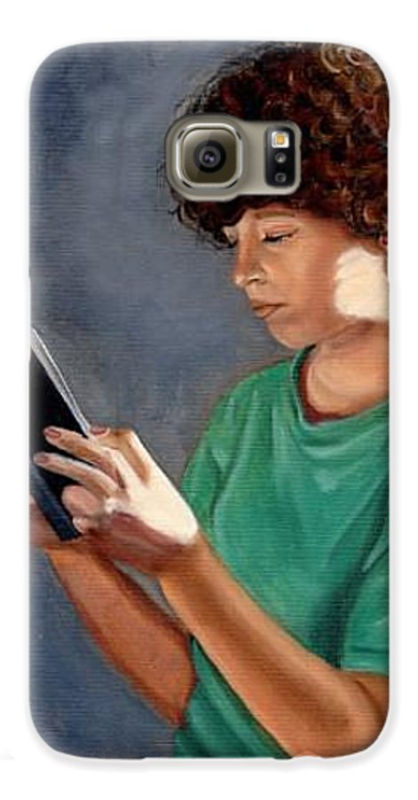 Portrait Galaxy S6 Case featuring the painting Thirst For Knowledge by Toni Berry