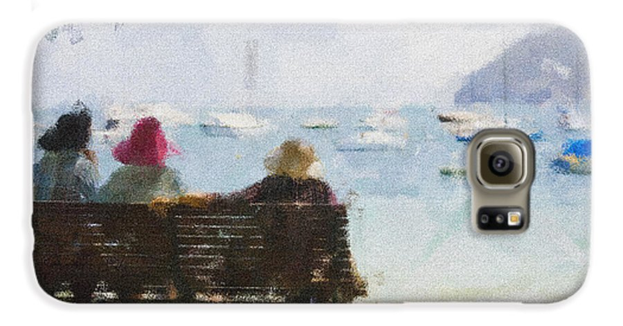 Impressionism Impressionist Water Boats Three Ladies Seat Galaxy S6 Case featuring the photograph Three Ladies by Sheila Smart Fine Art Photography