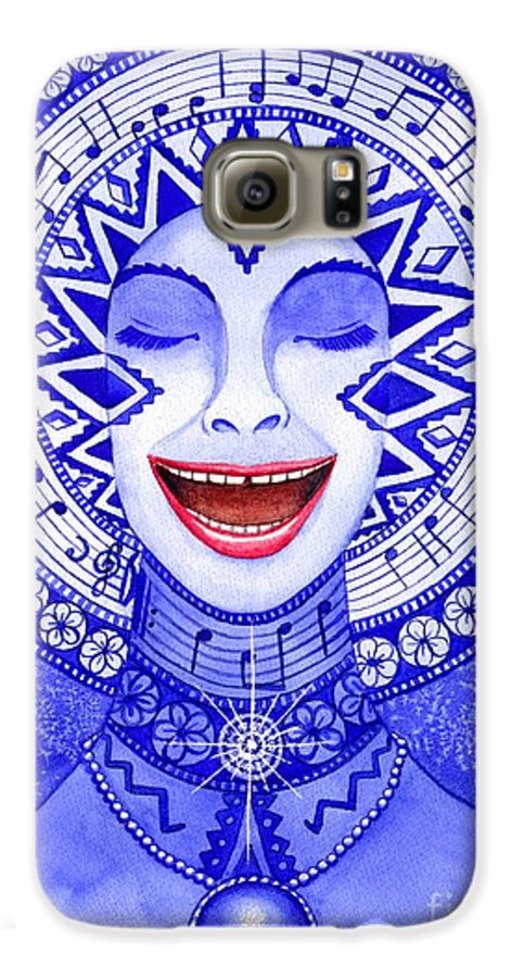 Chakra Galaxy S6 Case featuring the painting Throat Chakra by Catherine G McElroy