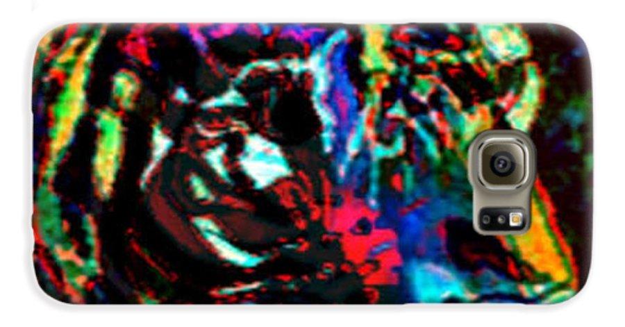 Wildlife Galaxy S6 Case featuring the digital art Tiger Se by Brenda L Spencer