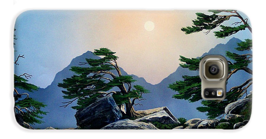 Timberline Guardians Galaxy S6 Case featuring the painting Timberline Guardians by Frank Wilson