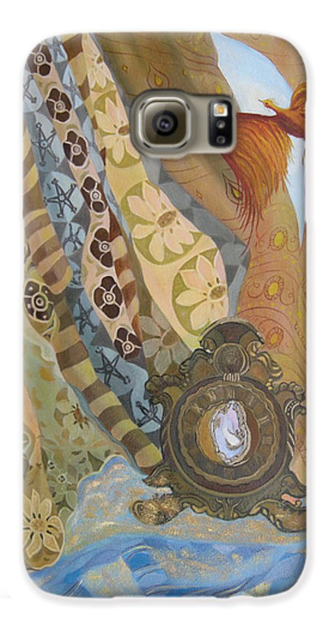 Still Life Galaxy S6 Case featuring the painting Time by Antoaneta Melnikova- Hillman