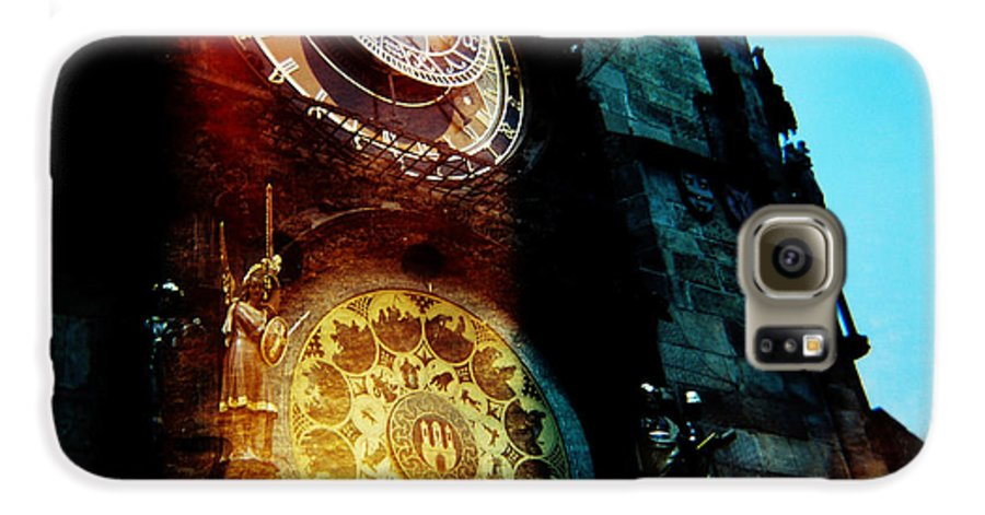 Clock Time Holga Color Photograph Praha Galaxy S6 Case featuring the photograph Time Is Burning by Olivier De Rycke