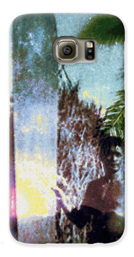 Tropical Interior Design Galaxy S6 Case featuring the photograph Time Surfer by Kenneth Grzesik