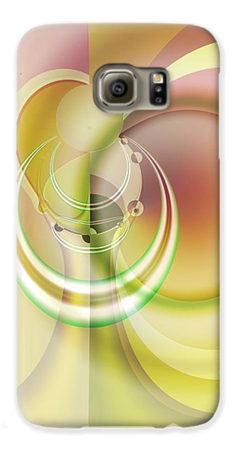 Fractal Galaxy S6 Case featuring the digital art Time Warp Revisited by Frederic Durville