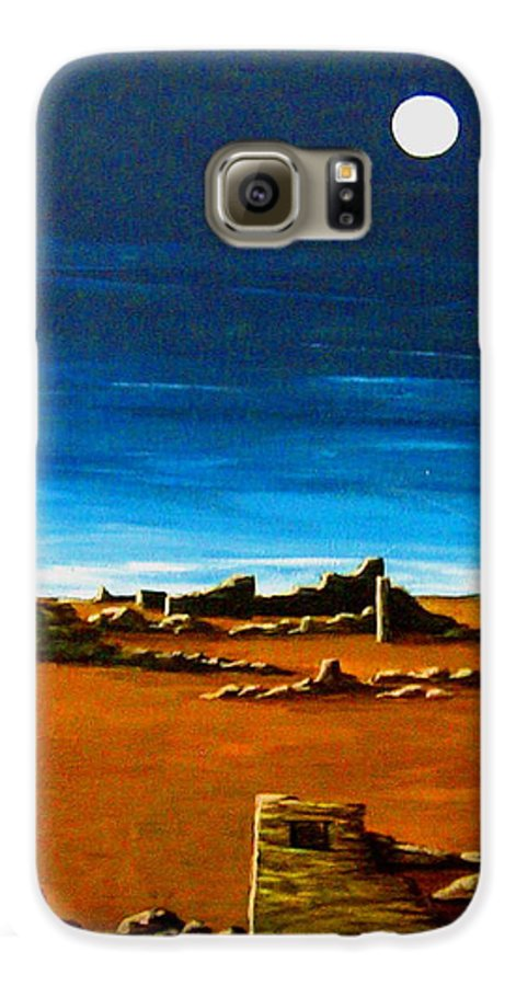 Anasazi Galaxy S6 Case featuring the painting Timeless by Diana Dearen